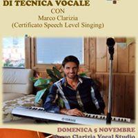 Masterclass di tecnica vocale con Marco Clarizia a Salerno