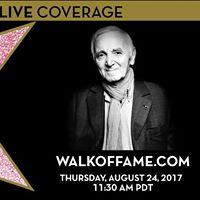 Charles Aznavour Hollywood Walk of Fame Star