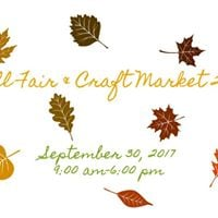 5th Annual Fall Fair &amp Craft Market