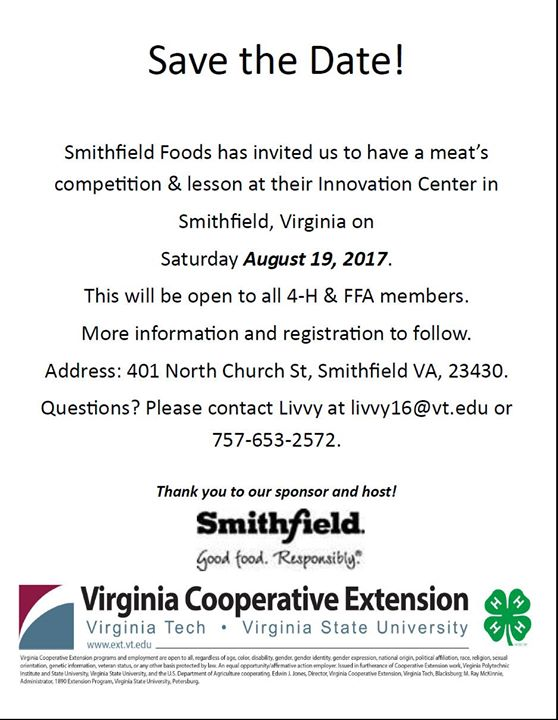 Smithfield Meats 4-H & FFA Mock Meats at Smithfield Foods