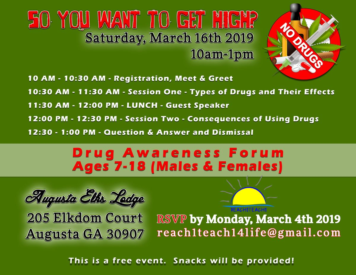 Drug Awareness Forum for Ages 7-18