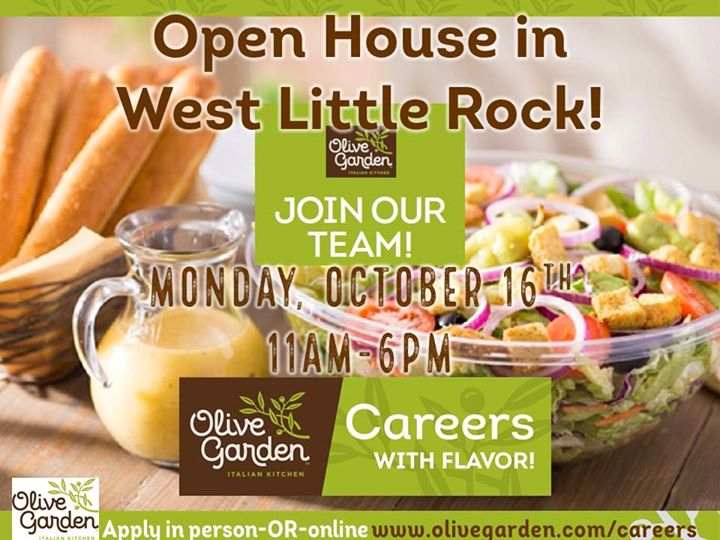 hiring open house in west little rock - Olive Garden Little Rock