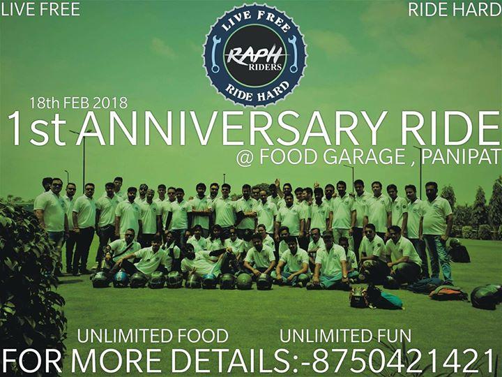 St anniversary ride at food garage nh panipat