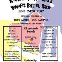 Kick for the Kids Benefit Barrel Race BBR &amp WPRA APPROVED