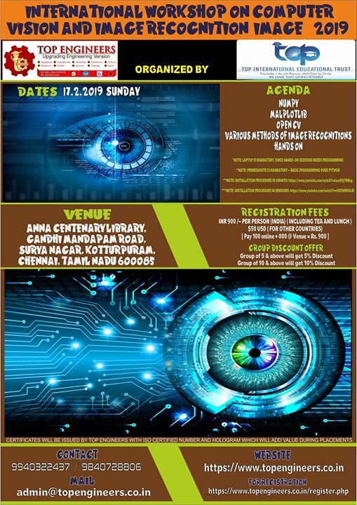Workshop on Computer Vision and Image Recognition