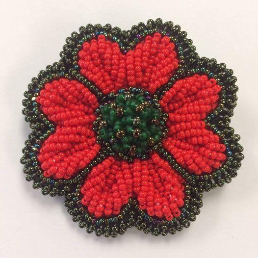 Native Beaded Poppy