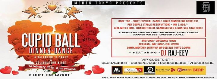 Valentines Celebration  Cupid Ball Dinner & Dancing Party