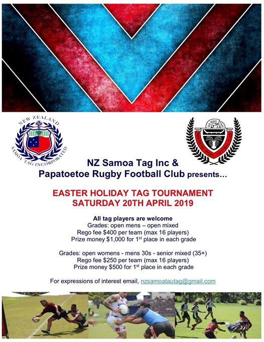 Easter Holiday Tag Tournament