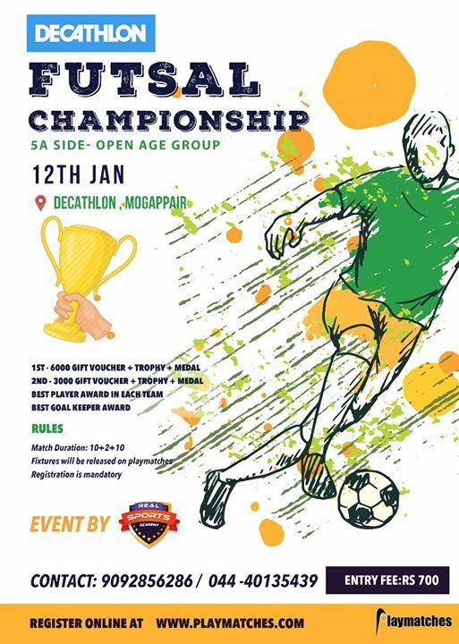 Decathlon Futsal Championship at Decathlon Sports India
