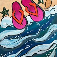 Beach and my Thongs Painting pARTy 12 (Bring the Family)