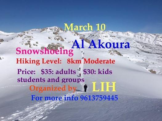 Snowshoeing Al Akoura