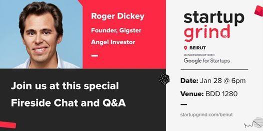 Startup Grind Beirut hosts Roger Dickey (Founder Gigster)