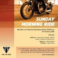 Sunday Morning Ride