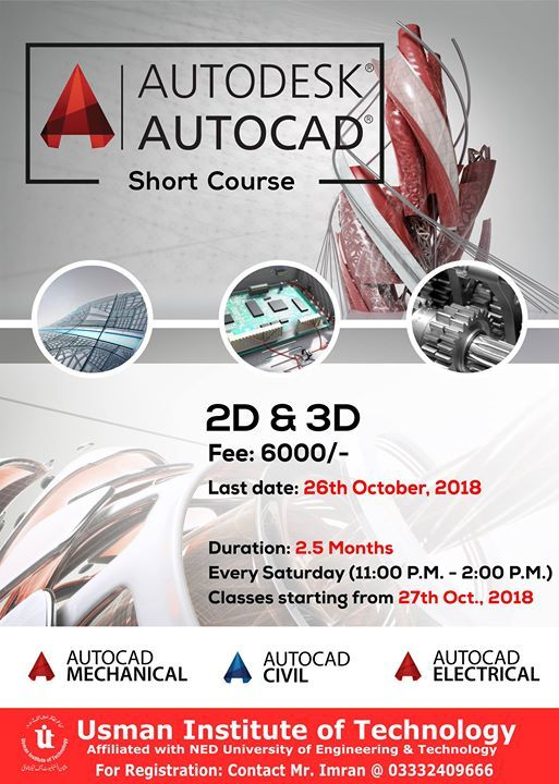 Free Orientation Certified AutoCAD 2D and 3D
