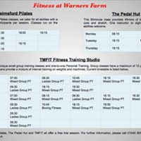 Fitness at Warners Farm - New 6 Week Training Timetable