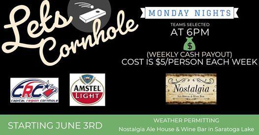 Monday Nights Blind Draw Cornhole at Nostalgia Ale House