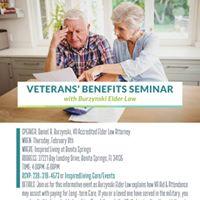 Veterans Benefit Seminar with Burzynski Elder Law