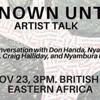 Unknown Untold  Artist talk with Churchill Ongere