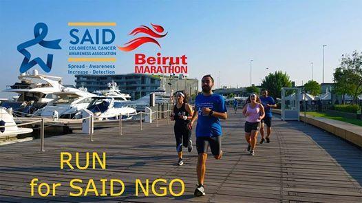 RUN for SAID NGO at the Beirut Marathon