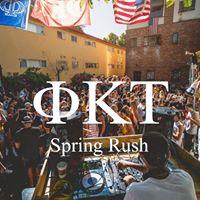 Phi Kappa Tau Spring 2018 Rush