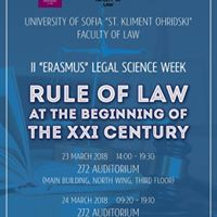 Rule of Law at the Beginning of the XXI Century