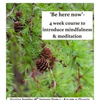 A 4 week course Introducing mindfulness and meditation
