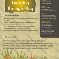 ERDC Workshop Learning Through Play