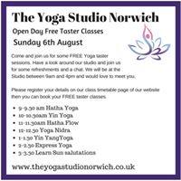 The Yoga Studio Norwich Open Day