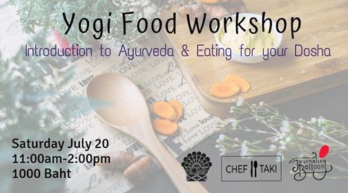 Yogi Food Workshop - Intro to Ayurveda & Eating for your Dosha