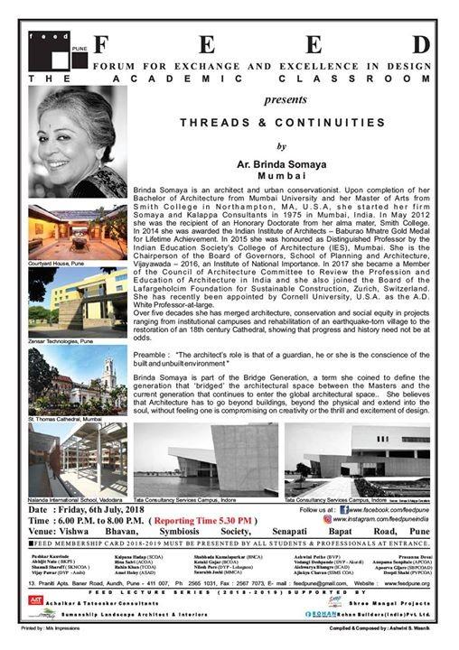 Threads & Continuities by Ar. Brinda Somaya Mumbai