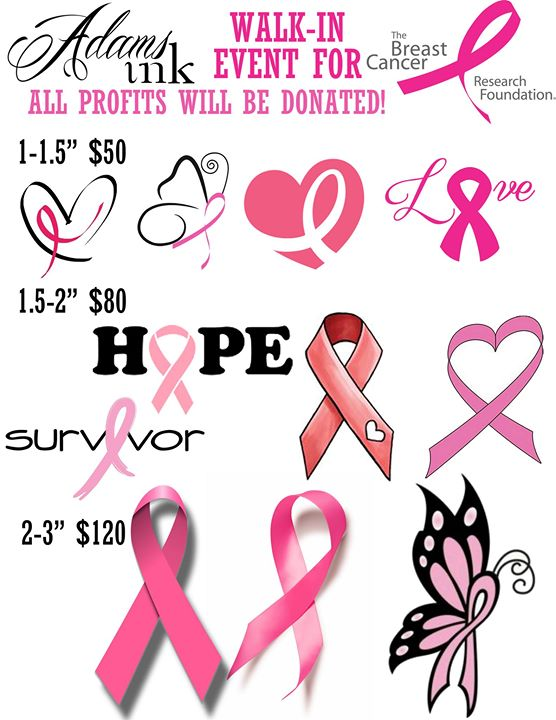 Breast Cancer Ribbon Tattoos - Adams Ink Walk-In Event! at Adams Ink ...