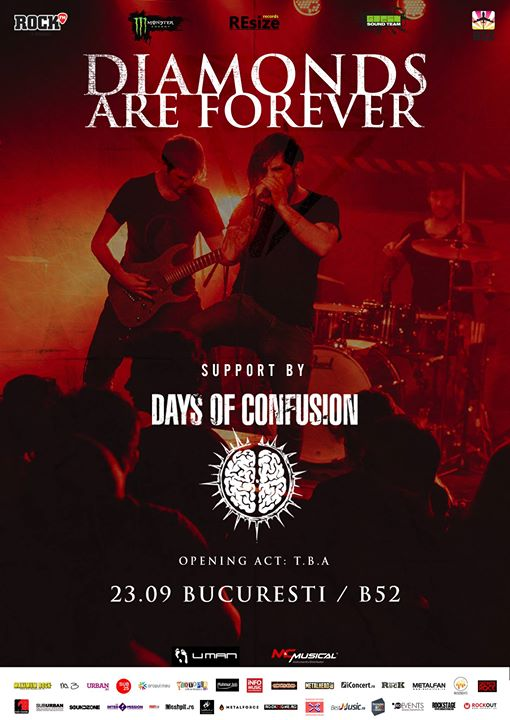 Diamonds Are Forever & Days Of Confusion live at club B52