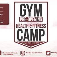 Gym Pre-Opening Health &amp Fitness Camp