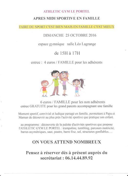 Dimanche Sportif En Famille At Salle Leo Lagrange Le Portel Pas
