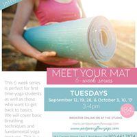 Meet your Mat - 6 consecutive Tuesdays starting September 12