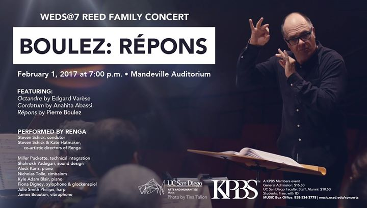 WEDS7 presents Reed Family Concert Boulez Repons