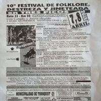 10 Festival de Folklore Destreza y Jineteada en Tres Picos