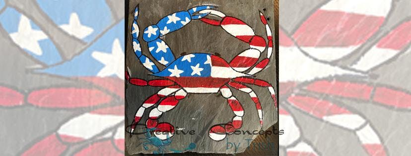 American Crab Slate Paint Night