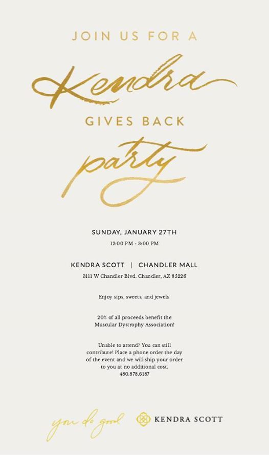 Kendra Gives Back to MDA