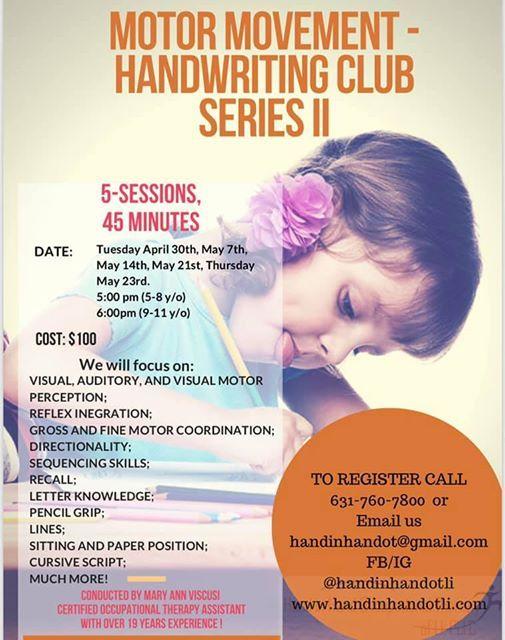 Motor movement- Handwriting club Series II