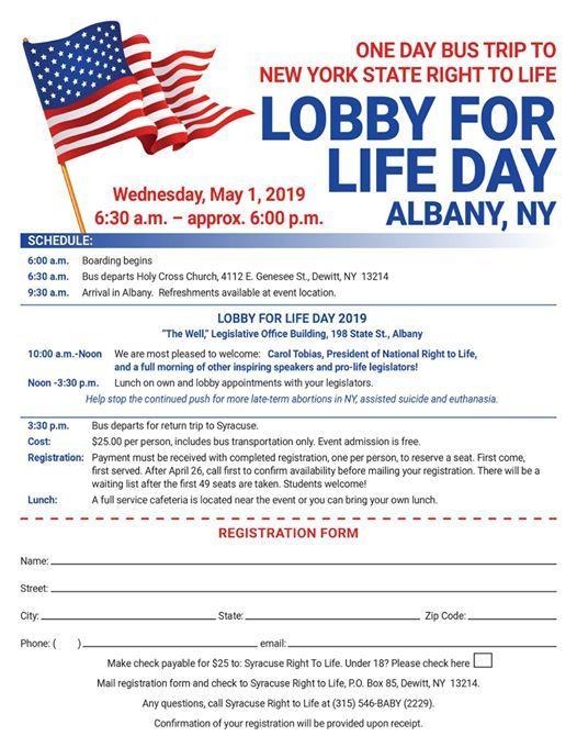 Lobby for Life Day 2019 - Syracuse Bus