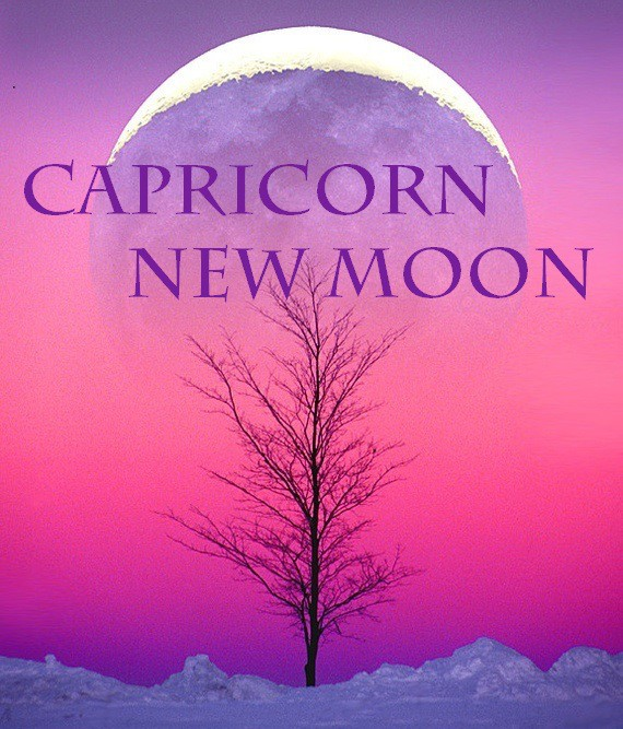 Image result for New Moon in Capricorn, January 16, 2018