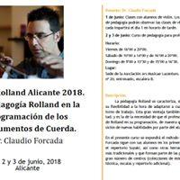 Rolland workshop. Alicante. June 2018