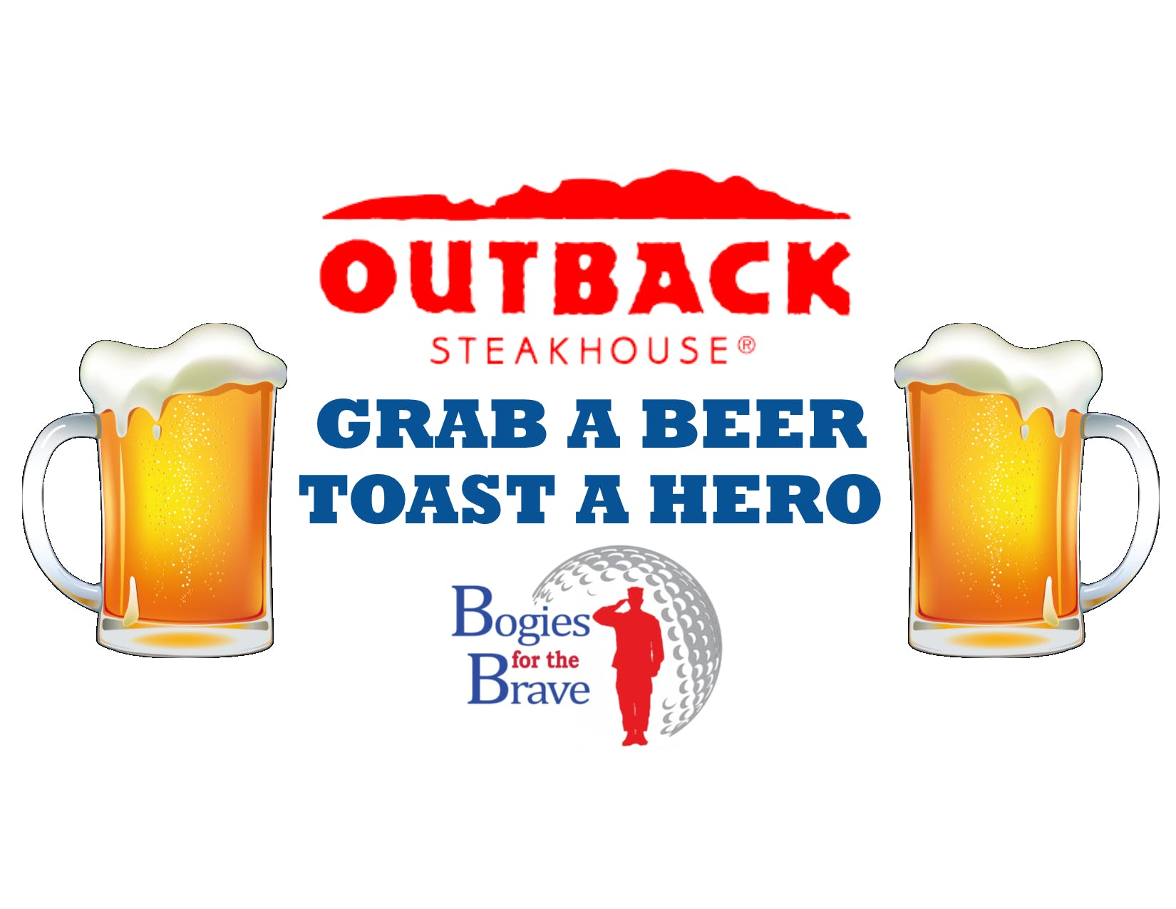 GRAB A BEER & TOAST A HERO at Outback Steakhouse, Newington