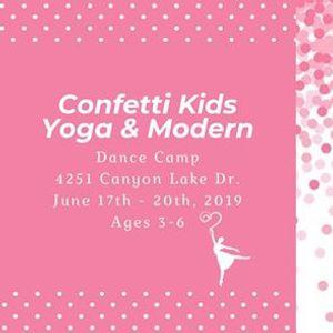 Confetti Kids Yoga & Modern DANCE CAMP - Ages 3-6