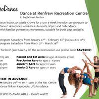 Renfrew Acrodance Workshops