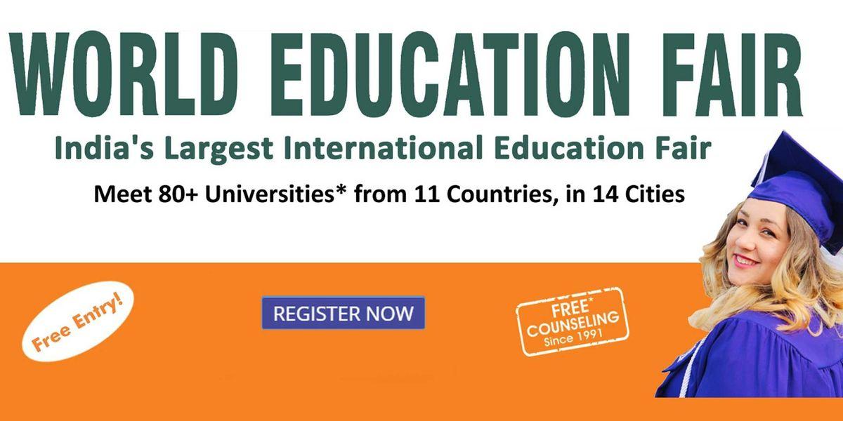 World Education Fair in Delhi By Edwise International. Free Entry
