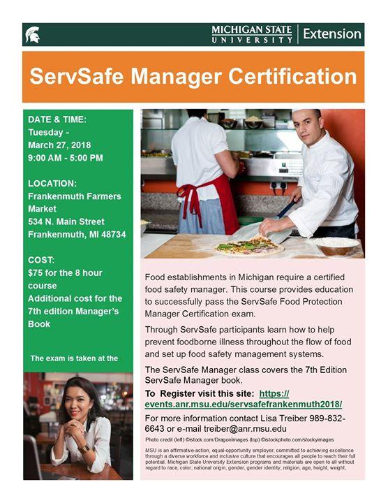 ServSafe Manager Certification at Frankenmuth Farmers Market ...