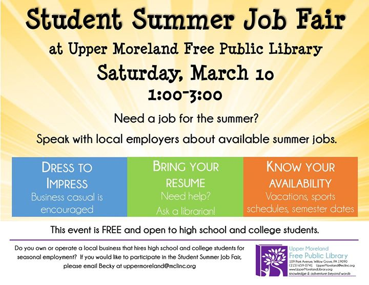 student summer job fair