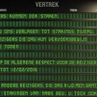 Reizigers NMBS staking